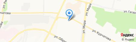 Левита-Дент на карте Братска