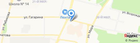 Русский транзит на карте Братска