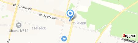 Проспект на карте Братска