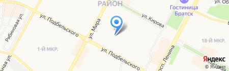 Детский сад №72 Родничок на карте Братска