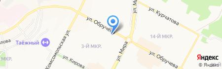 Киоск по продаже печатной продукции на карте Братска