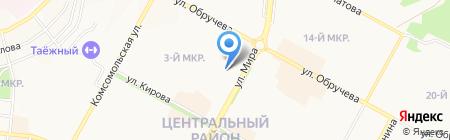 Лучик на карте Братска
