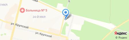 Автоколор на карте Братска