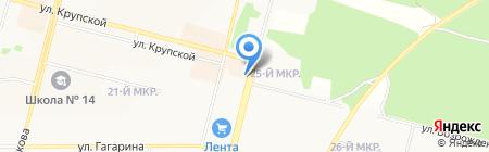 София на карте Братска