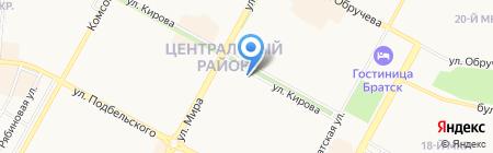 Азария-Тур на карте Братска