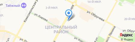 Элема на карте Братска