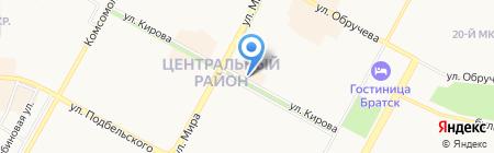 Чулок на карте Братска