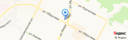 Мастерская Художникова на карте Братска