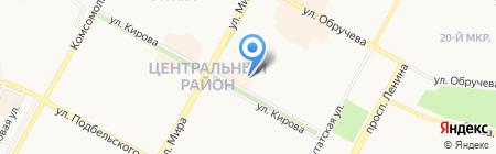 Авоська на карте Братска