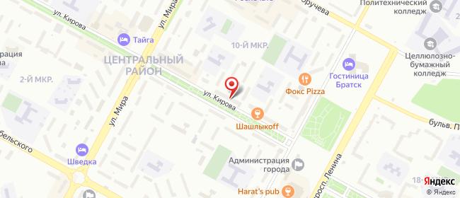Карта расположения пункта доставки Westfalika в городе Центральный