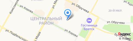 Опорный пункт полиции №5 на карте Братска