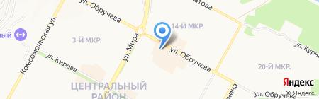 Визон на карте Братска