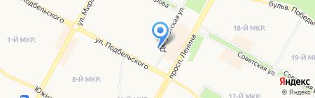 Галант на карте Братска