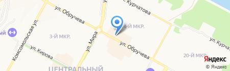 Северное шоссе на карте Братска
