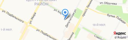 Продуктовый магазин на ул. Кирова на карте Братска