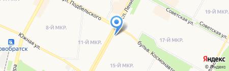 Иринка на карте Братска