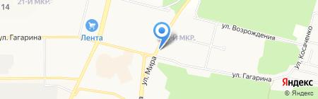Баргузин на карте Братска