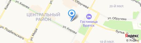 Детский сад №70 Светлячок на карте Братска