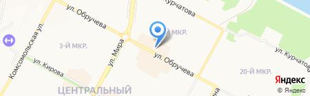 Киоск по продаже фруктов на карте Братска