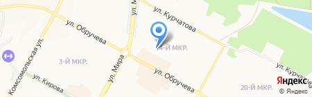 Детский сад №91 Голосок на карте Братска