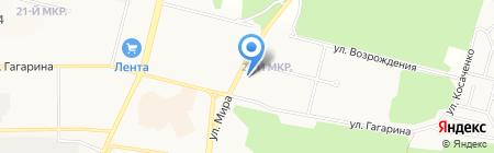 Каравай на карте Братска