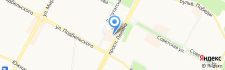 Магазин постельных принадлежностей на карте Братска