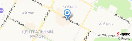 Вестфалика на карте Братска