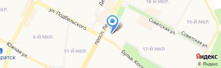 Снежная Роза на карте Братска