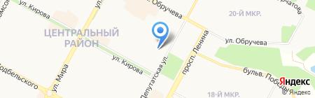 Центральная детская библиотека на карте Братска