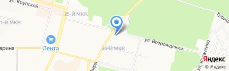 Сауна на ул. Возрождения на карте Братска