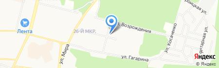 Сеть продовольственных магазинов на карте Братска