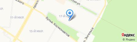 Гимназия №1 им. А.А. Иноземцева на карте Братска