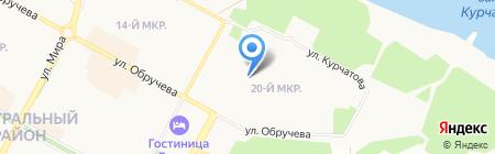 БрПК на карте Братска