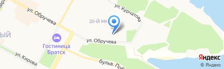 Отдел надзорной деятельности по г. Братску и Братскому району на карте Братска