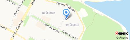 Строящиеся объекты на карте Братска
