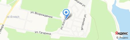 Курчатовский на карте Братска