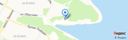 На берегу на карте Братска