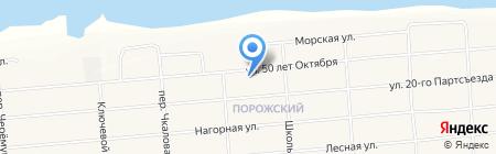 Клуб жилого района Порожский на карте Братска