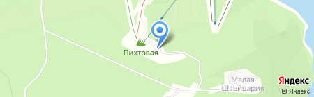 Гора Пихтовая на карте Братска