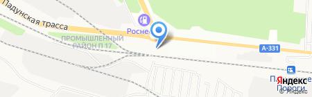 Очаг на карте Братска