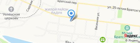 Детский сад №68 Жарок на карте Братска
