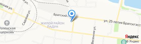 Детский сад №15 на карте Братска