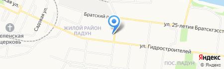 Отражение на карте Братска