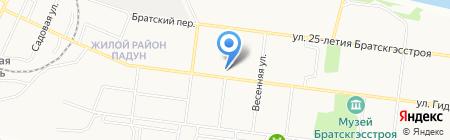 Средняя общеобразовательная школа №13 на карте Братска