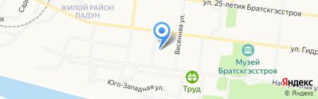 Дюжина на карте Братска