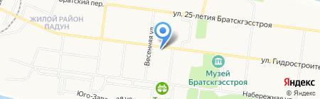 Экспресс на карте Братска