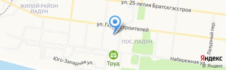 Колорит на карте Братска