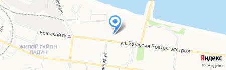 Лотос плюс на карте Братска