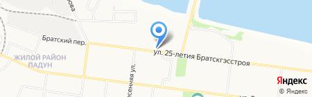 Отдел полиции №3 Управления МВД РФ по г. Братску на карте Братска