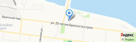Глобус-полиграфия на карте Братска